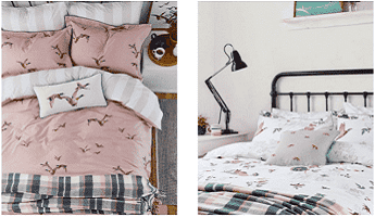 Joules Bedding Sets in Pink and White