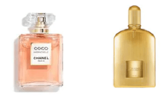 Bottles of COCO MADEMOISELLE and Black orchid available at The Perfume Shop