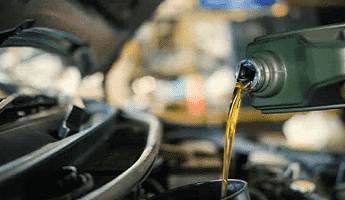 Euro Car Parts Oil Being Poured into Engine