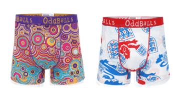 A selection of colourful OddBalls boxers