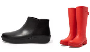 A selection of Fitflop boots and wellies