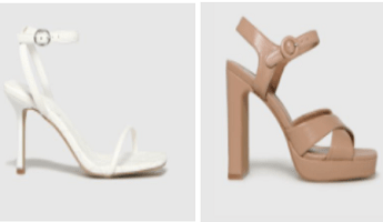 Schuh High Heels and Wedges in White and Beige