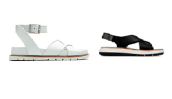 Clarks Sandals Options in Black or White
