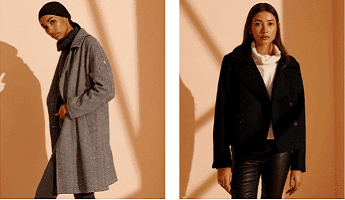 Superdry Smart Coats in Grey and Black