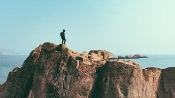 Hiking on a Cliff